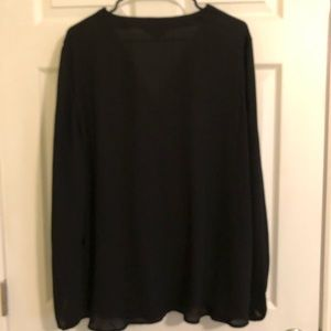 Apt. 9 Tops - APT. 9 Black Lightweight Blouse